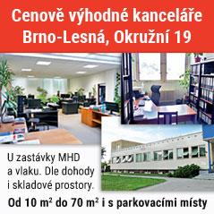 pronájem kanceláří Brno - Lesná